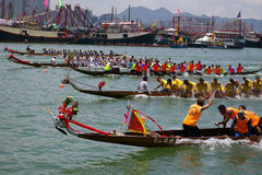 Dragon Boat Race in Hong Kong Royalty Free Stock Image