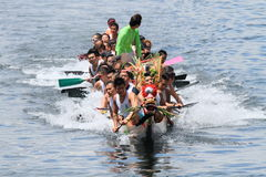 Dragon Boat race 2014 in Hong Kong Stock Photos