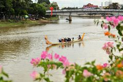 Dragon Boat Race during Loy Krathong festival Stock Photography