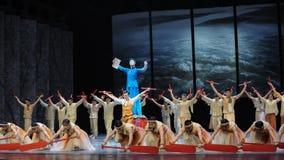 Dragon Boat Race - O terceiro ato de eventos do drama-Shawan da dança do passado imagens de stock