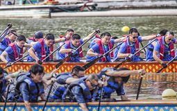 Dragon Boat Race On Dragon Boat Festival Royalty Free Stock Photography