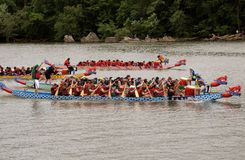 Dragon Boat Race on the Potomac Royalty Free Stock Photo