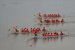 Dragon boat race scene in Chinese traditional Dragon Boat Festiv Stock Photo