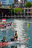 Dragon boat race in Sydney Royalty Free Stock Photography