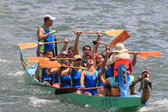 Dragon boat race team, Hong Kong Stock Image