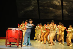 The Dragon Boat Race.-The third act of dance drama-Shawan events of the past Stock Image