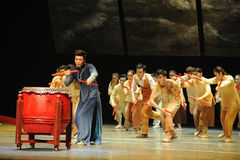 The Dragon Boat Race.-The third act of dance drama-Shawan events of the past Stock Images