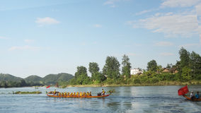 The Dragon Boat Race. A traditional game,in china Stock Photo