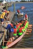 Dragon Boat Racers National Harbor Washington DC Fotografering för Bildbyråer