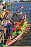 Dragon Boat Racers National Harbor Washington DC Stock Image