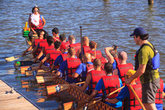 Dragon Boat Racers National Harbor Washington DC Royalty Free Stock Image