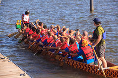Dragon Boat Racers National Harbor Washington DC Stock Photography