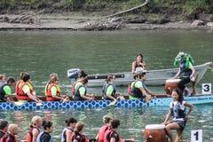 Dragon boat races Stock Photos