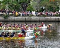 Dragon Boat Races 2017 em Taiwan Fotografia de Stock Royalty Free