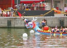 Dragon Boat Races i Taiwan Royaltyfri Fotografi
