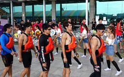 2014 Dragon Boat Races in Kaohsiung, Taiwan Royalty Free Stock Photography