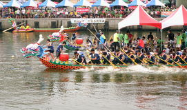 Dragon Boat Races in Taiwan Lizenzfreies Stockbild
