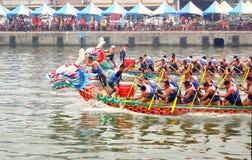 Dragon Boat Races in Taiwan Stockbild