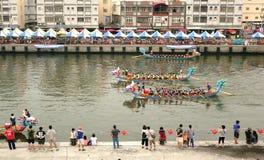 Dragon Boat Races in Taiwan Stockbilder