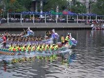 2017 Dragon Boat Races in Taiwan stock video footage