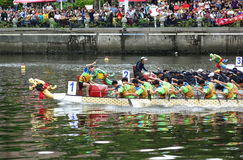 The 2017 Dragon Boat Races in Taiwan Stock Images