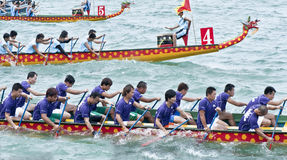 Dragon boat racing Royalty Free Stock Photos