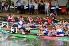 Dragon Boat Racing Stock Foto's
