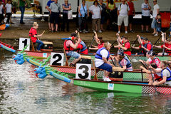 Dragon Boat Racing Image libre de droits