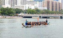 Dragon boat racing Royalty Free Stock Photo