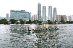 Dragon boat racing royalty free stock photography