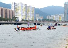 Dragon boat racing Stock Images
