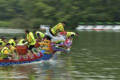 Dragon boat racing. Royalty Free Stock Photo