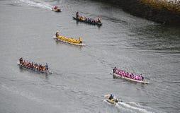 Dragon boat racing in False Creek royalty free stock photo