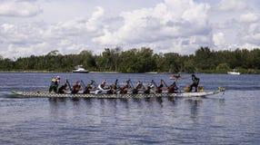 Dragon Boat Racing at Haulover Beach Stock Photos