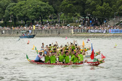 Dragon Boat Racing in Hong Kong 2013 Stock Photo
