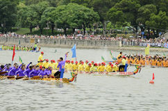 Dragon Boat Racing in Hong Kong 2013 Stock Images