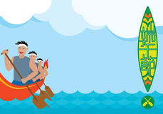 Dragon boat racing illustration background Royalty Free Stock Image