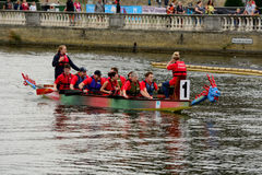 Dragon boat racing Royalty Free Stock Image