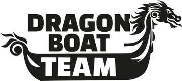 Dragon boat racing team Stock Image
