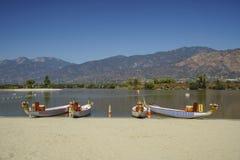 Dragon boat at Santa Fe Dam Recreation Area. Los Angeles County, California, United States Royalty Free Stock Images