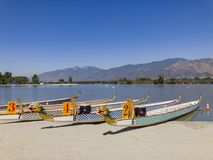 Dragon boat at Santa Fe Dam Recreation Area. Los Angeles County, California, United States Royalty Free Stock Image