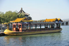 Dragon boat in summer palace Stock Photography