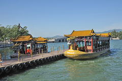 Dragon boat in summer palace Stock Image
