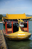 Dragon boat in summer palace Royalty Free Stock Images