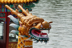 Dragon boat in Summer Palace royalty free stock photography