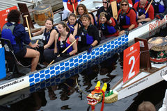Dragon Boat Team Stock Image