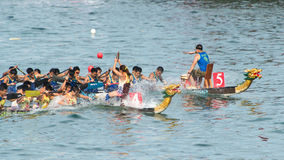 Dragon Boat. Teams of Racers Paddling stock images
