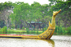 Dragon boat in Thailand Stock Photo