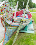 Dragon Boat. View of a colourful dragon boat Stock Photo