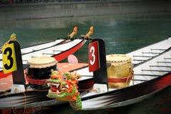 Dragon Boats at the dock. Stock Image